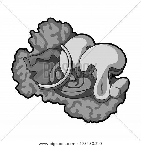 Ecological vegetable salad.Salad for vegetarians.Vegetarian Dishes single icon in monochrome style vector symbol stock web illustration.