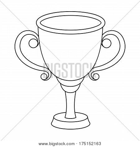 Gold Cup for the first place.The award winner of the racing competition.Awards and trophies single icon in outline style vector symbol stock web illustration.