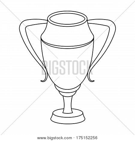 Silver Cup.Award the winner of the competition for second place.Awards and trophies single icon in outline style vector symbol stock web illustration.
