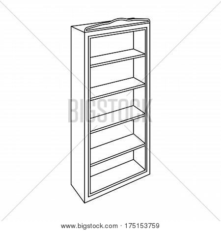 The little bookcase.Home library.books to read.Bedroom furniture single icon in outline style vector symbol stock web illustration.