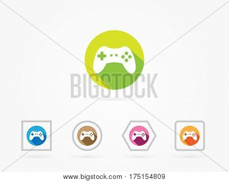 Vector Illustration of PC Accessories Game Controller isolated on a white background