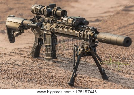 AR15 mid lenght rifle 5.56 for military