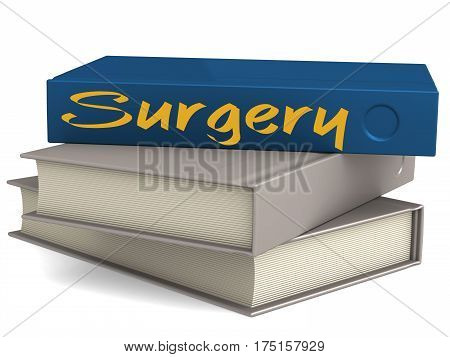 Hard Cover Blue Books With Surgery Word