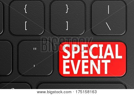 Special Event On Black Keyboard