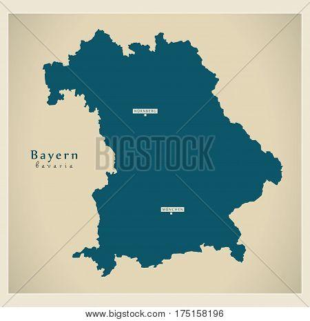 Modern Map - Bayern De New Design Refreshed Illustration