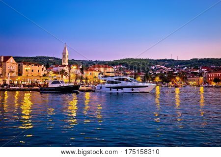 Town Of Supetar Waterfront Evening View