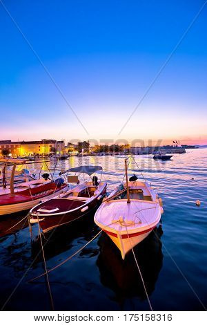 Supetar Waterfront Harbor Evening View