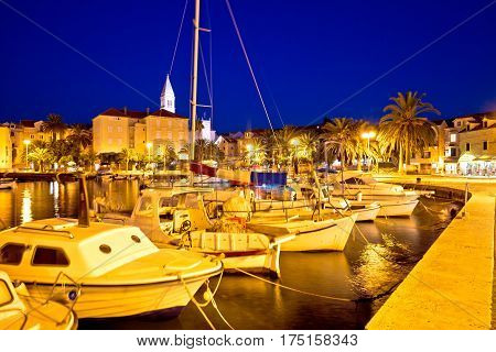 Supetar Waterfront Evening View