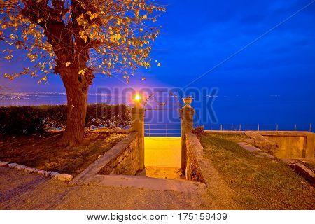 Kvarner Bay In Lovran Evening View