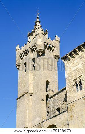 Tower of the church of the Savior Ejea de los Caballeros Saragossa Spain