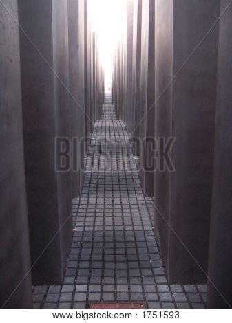Holocaust Memorial Berlin Light