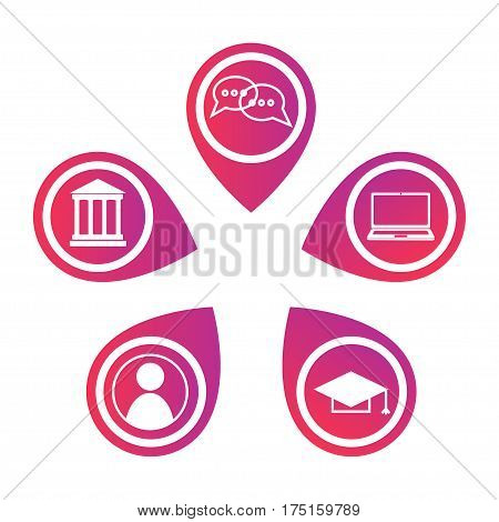Mooc Icons Infographics Elements