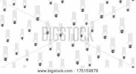 power saving seamless on white background. Vector illustration
