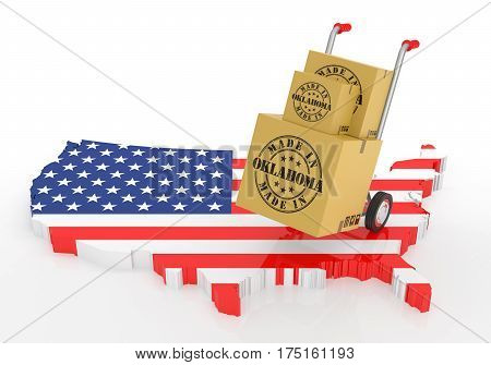 Made In Oklahoma With Usa Map