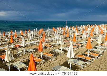 Beach Of Torre Canne On Puglia, Italy