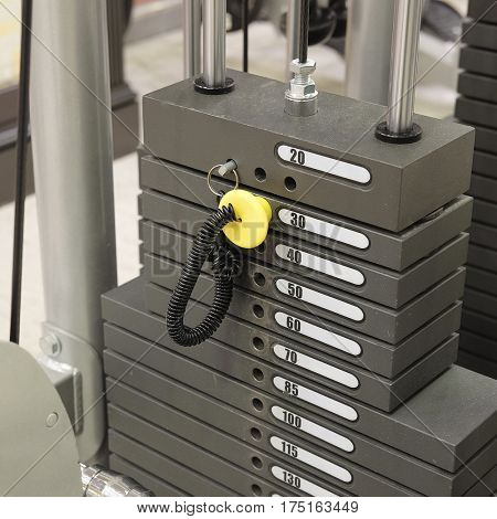The image of a fitness machine wight
