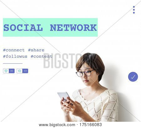 Social Network Communication Community Follow