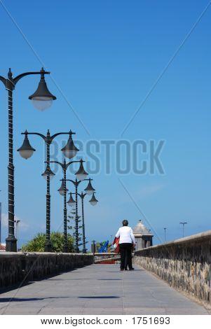Tourist On The Boardwalk