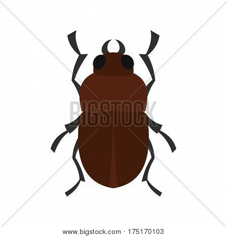 Bug icon in flat style isolated on white background vector illustration