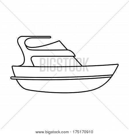 Expensive yacht for rich people.Yacht for vacations and short trips.Ship and water transport single icon in outline style vector symbol stock web illustration.