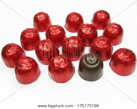 sweetmeats in red casing sweet food set