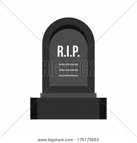 Headstone icon in flat style isolated on white background vector illustration