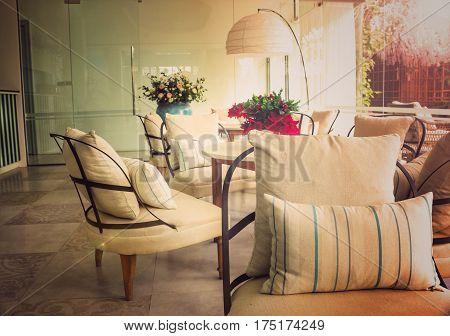 Interior decoration design background .interior design room background