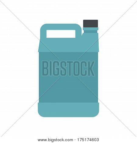 Jerrycan icon in flat style isolated on white background vector illustration