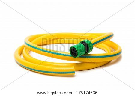 garden hose isolated on a white background