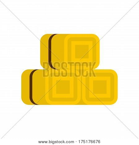 Hay bundles icon in flat style isolated on white background vector illustration