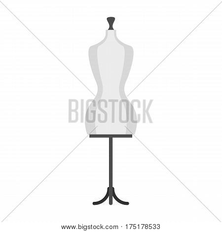 Mannequin icon in flat style isolated on white background vector illustration