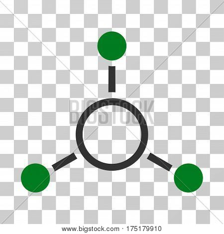 Radial Structure icon. Vector illustration style is flat iconic bicolor symbol green and gray colors transparent background. Designed for web and software interfaces.