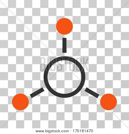 Radial Structure icon. Vector illustration style is flat iconic bicolor symbol orange and gray colors transparent background. Designed for web and software interfaces.