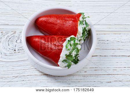 pinchos filled pimientos piquillo pepper tapas pintxos from Spain food
