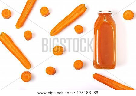 Bottle With Carrot Juice