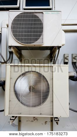 Air Compressor outdoor air and background .