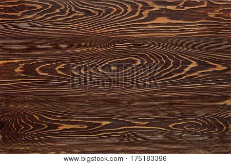 background is dark wood with a pronounced texture