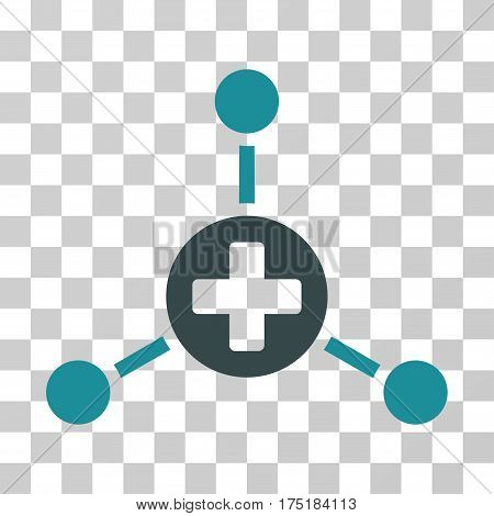 Medical Center icon. Vector illustration style is flat iconic bicolor symbol soft blue colors transparent background. Designed for web and software interfaces.