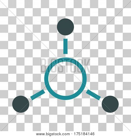 Radial Structure icon. Vector illustration style is flat iconic bicolor symbol soft blue colors transparent background. Designed for web and software interfaces.