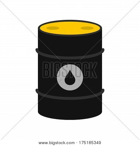 Oil icon in flat style isolated on white background vector illustration