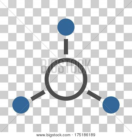 Radial Structure icon. Vector illustration style is flat iconic bicolor symbol cobalt and gray colors transparent background. Designed for web and software interfaces.