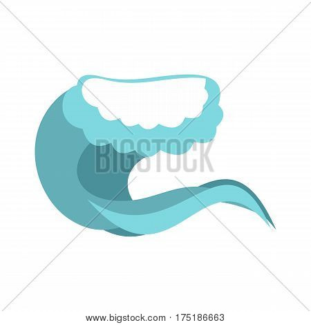 Foamy wave icon in flat style isolated on white background vector illustration