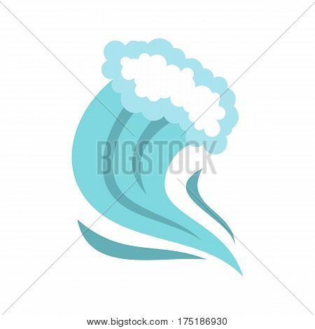 Tsunami icon in flat style isolated on white background vector illustration