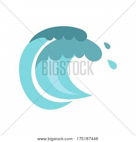 Tenth wave icon in flat style isolated on white background vector illustration