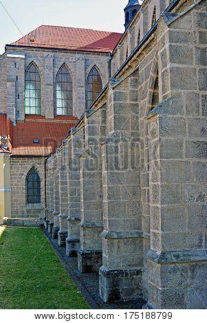 detail of Church of the Assumption of Our Lady and Saint John the Baptist in Kutna Hora, Czech Republic