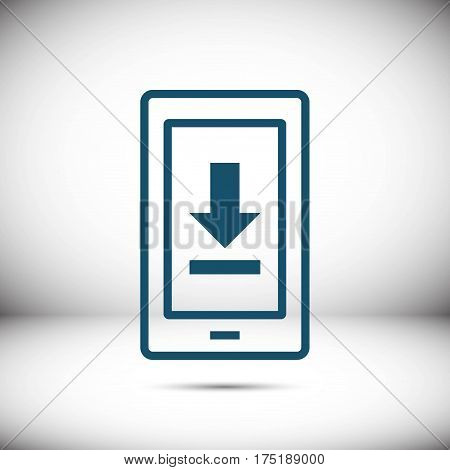 phone download icon stock vector illustration flat design