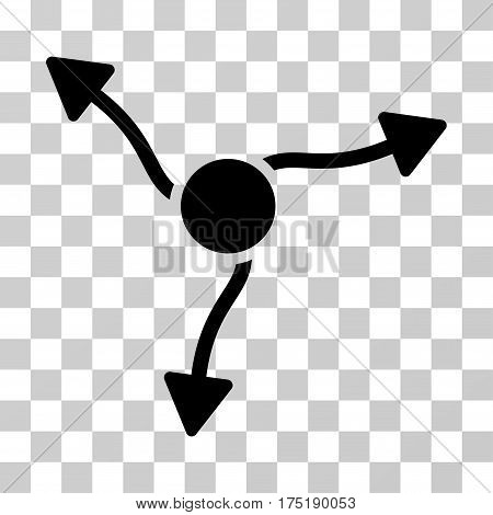 Curve Arrows icon. Vector illustration style is flat iconic symbol black color transparent background. Designed for web and software interfaces.
