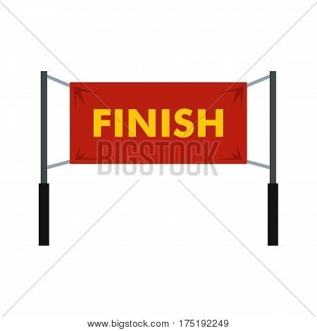 Finish line icon in flat style isolated on white background vector illustration
