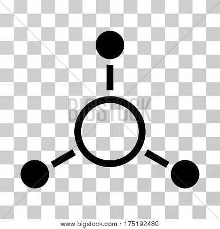 Radial Structure icon. Vector illustration style is flat iconic symbol black color transparent background. Designed for web and software interfaces.