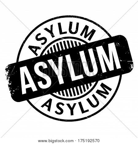 Asylum rubber stamp. Grunge design with dust scratches. Effects can be easily removed for a clean, crisp look. Color is easily changed.
